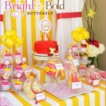 Festinha de Borboletas Amarelo e Rosa!