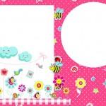Jardim Encantado Rosa – Kit Completo com molduras para convites, rótulos para guloseimas, lembrancinhas e imagens!