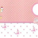 Chá de Bebê ou Nascimento Menina – Kit Completo com molduras para convites, rótulos para guloseimas, lembrancinhas e imagens!