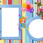 Circo Palhacinhos Bonitinhos – Kit Completo com molduras para convites, rótulos para guloseimas, lembrancinhas e imagens!