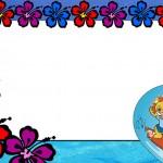Surf Leãozinho – Kit Completo com molduras para convites, rótulos para guloseimas, lembrancinhas e imagens!