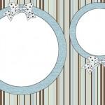 Listras Azul e Marrom – Kit Completo com molduras para convites, rótulos para guloseimas, lembrancinhas e imagens!