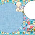 Cha de Bebê e Nascimento Menino e Tremzinho – Kit Completo com molduras para convites, rótulos para guloseimas, lembrancinhas e imagens!