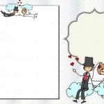 Casamento Noivinhos Palito – Kit Completo com molduras para convites, rótulos para guloseimas, lembrancinhas e imagens!