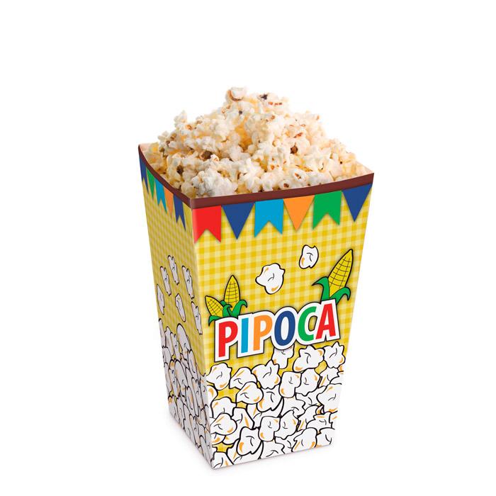 Caixa para Pipoca Festa Junina: