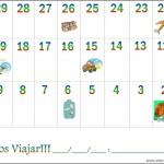 Calendário para Contagem Regressiva de Viagem!