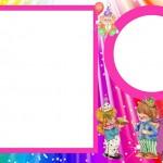 Circo para Menina – Kit Completo com molduras para convites, rótulos para guloseimas e lembrancinhas e imagens