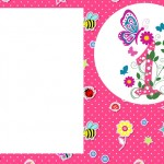 1 Ano Menina – Kit Completo com molduras para convites, rótulos para guloseimas, lembrancinhas e imagens!
