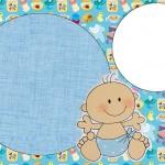 Chá de Bebê Nascimento Menino Bebê Fofinho – Kit Completo com molduras para convites, rótulos para guloseimas, lembrancinhas e imagens!