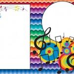 Notas Musicais – Kit Completo com molduras para convites, rótulos para guloseimas, lembrancinhas e imagens!
