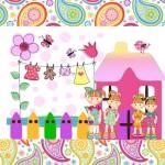 Casinha de Bonecas – Kit Completo com molduras para convites, rótulos para guloseimas, lembrancinhas e imagens!