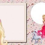 Barbie Moda e Magia – Kit Completo com molduras para convites, rótulos para guloseimas, lembrancinhas e imagens!