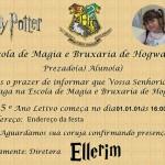 Convite Harry Potter – Carta de Admissão