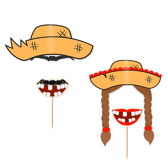 Kit Máscara Festa Junina: