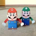 Caixinhas Bonecos Mario Bros e Luigi!