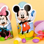 Porta Ovos ou Porta Guardanapos de Páscoa Mickey e Minnie!