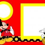 Mickey Tradicional – Kit Completo com molduras para convites, rótulos para guloseimas, lembrancinhas e imagens!