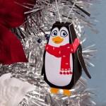 Pinguim Enfeite de Árvore para recortar e montar!
