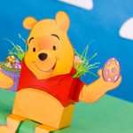 Caixinha de Páscoa do Pooh em 3D para Recortar e Montar!