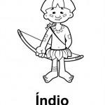 Imagens para Colorir de Índios!