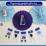 Bandeirinhas Frozen para Varalzinho de Decoração!
