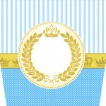 Balde de Pipoca Coroa Príncipe