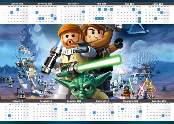 Convite Calendário 2015 Lego Star Wars: