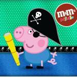George Pig Pirata Verde – Kit Completo Digital com molduras para convites, rótulos para guloseimas, lembrancinhas e imagens!