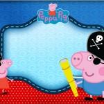 George Pig Pirata(Peppa Pig) – Kit Completo Digital com molduras para convites, rótulos para guloseimas, lembrancinhas e imagens!