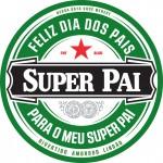 Porta Copos Dia dos Pais Heineken - com nome
