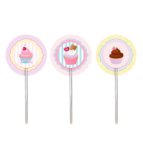 Lindos toppers para cupcakes: