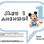 Plaquinhas Divertidas do Mickey Baby!