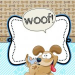 Cachorrinho – Kit Completo com molduras para convites, rótulos para guloseimas, lembrancinhas e imagens!