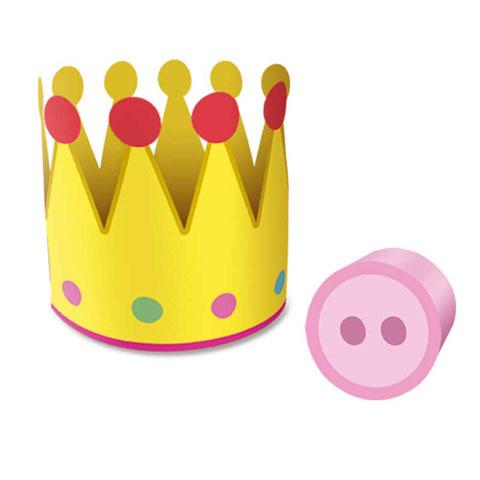 Enfeite Coroa e Nariz Peppa Pig: