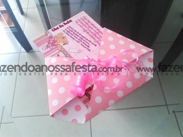 Convite Chá de Bebê Ursinha:
