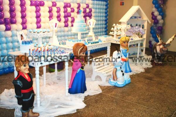 Mesa de Doces Festa Frozen: