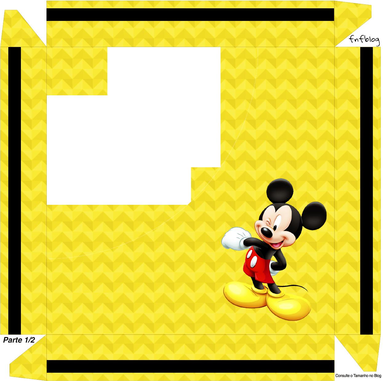Caixa de Bombom Mickey Mouse - Parte de cima 2