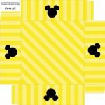 Caixa de Bombom Mickey Mouse Silhueta