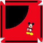 Caixa de Bombom Mickey - Parte de cima