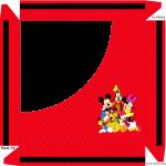 Caixa de Bombom Mickey e sua turma - parte de cima