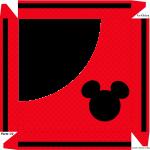 Caixa de Bombom - Parte de cima Silhueta Mickey Mouse