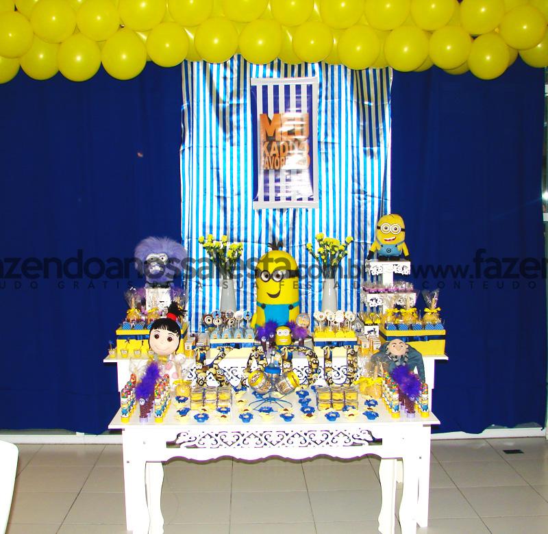 decoracao festa minions : decoracao festa minions:Ideias Festa Minions – Fazendo a Nossa Festa