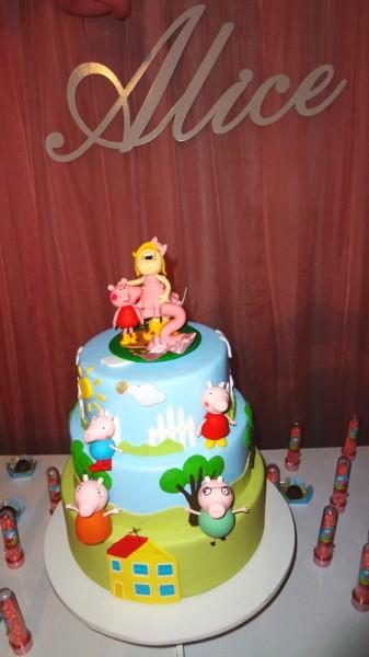 Bolo Peppa Pig Princesa: