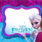 Frozen Roxo e Azul – Kit Completo com molduras para convites, rótulos para guloseimas, lembrancinhas e imagens!