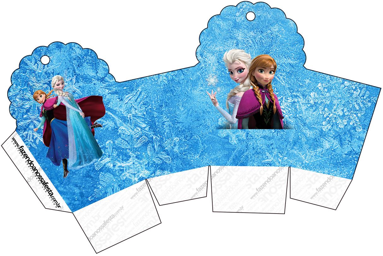 Populares Kit Completo Digital Frozen Azul e Branco MY67