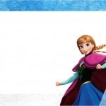 Frozen Azul e Branco – Kit Completo com molduras para convites, rótulos para guloseimas, lembrancinhas e imagens!