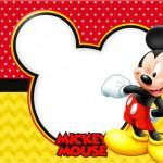 Mickey – Kit Completo com molduras para convites, rótulos para guloseimas, lembrancinhas e imagens!