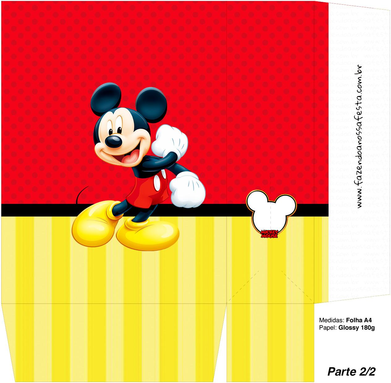Sacolinha Lembrancinha Mickey Mouse 1 - Parte 2