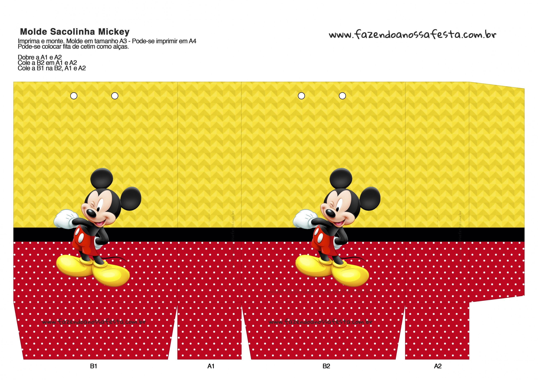 Sacolinha Surpresa Mickey Mouse - A3