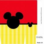 Sacolinha Surpresa Mickey Mouse Silhueta - Parte 1